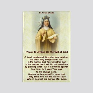 St Teresa of Avila Prayer Rectangle Magnet