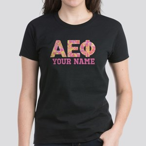 Alpha Epsilon Phi Letters Pin Women's Dark T-Shirt