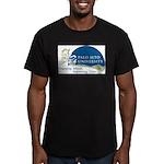 Masters Light Bulb Des Men's Fitted T-Shirt (dark)