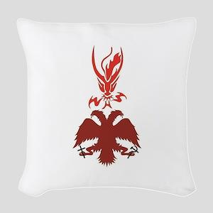 RDOR-Russian eagle and dragon Woven Throw Pillow