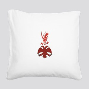 RDOR-Russian eagle and dragon Square Canvas Pillow