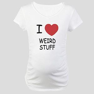 I heart weird stuff Maternity T-Shirt