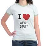 I heart weird stuff Jr. Ringer T-Shirt