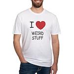 I heart weird stuff Fitted T-Shirt