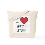 I heart weird stuff Tote Bag