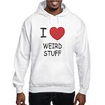 I heart weird stuff Hooded Sweatshirt