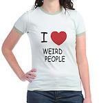 I heart weird people Jr. Ringer T-Shirt