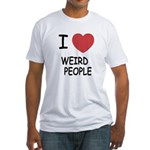 I heart weird people Fitted T-Shirt