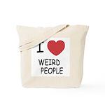 I heart weird people Tote Bag