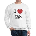 I heart weird people Sweatshirt