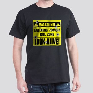 WARNING: Zombie Kill Zone Dark T-Shirt