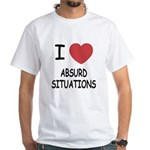 I heart absurd situations White T-Shirt