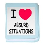 I heart absurd situations baby blanket