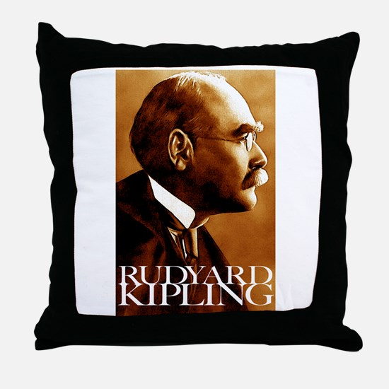 Rudyard Kipling Throw Pillow
