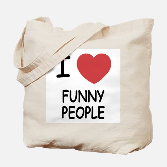 I heart funny people Tote Bag