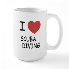 I heart scuba diving Large Mug