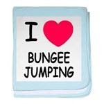 I heart bungee jumping baby blanket