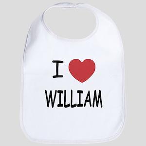 I heart william Bib