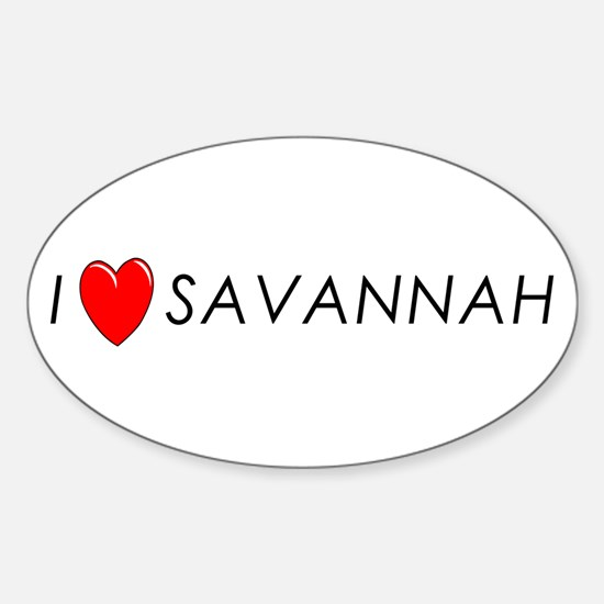 I Love Savannah Oval Decal