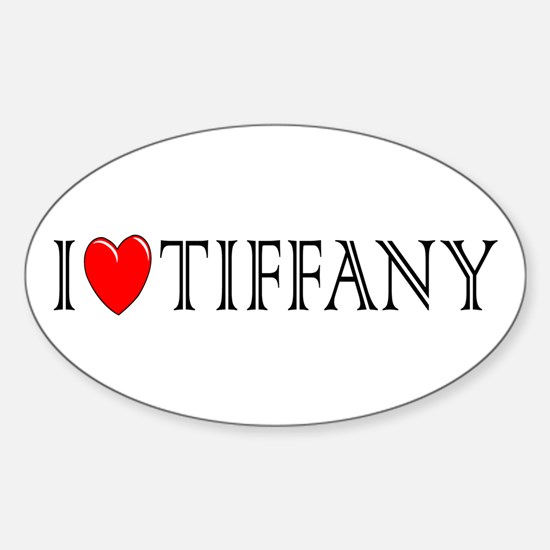 I Love Tiffany Oval Decal