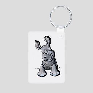 Pocket Rhino Aluminum Photo Keychain