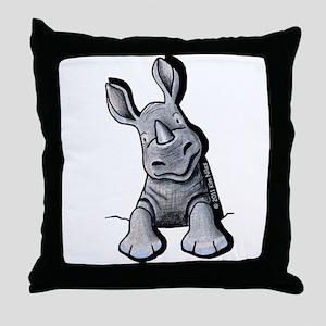 Pocket Rhino Throw Pillow