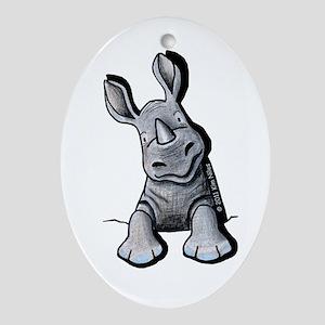 Pocket Rhino Ornament (Oval)