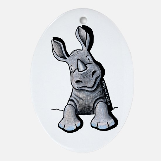 Pocket Rhino Ornament (Oval)
