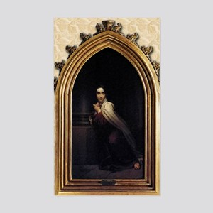 St Teresa of Avila Gothic Sticker (Rectangle)