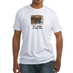 IT'S BEEN A LONG DAY (BOXER LOOK) Fitted T-Shirt