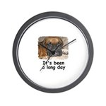 IT'S BEEN A LONG DAY (BOXER LOOK) Wall Clock
