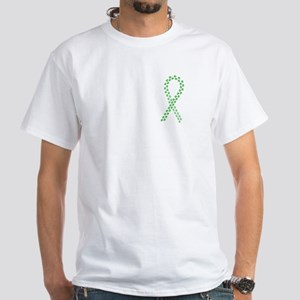 Green Paws Cure White T-Shirt