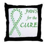 Green Paws Cure Throw Pillow