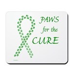 Green Paws Cure Mousepad