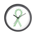 Green Paws Cure Wall Clock