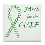 Green Paws Cure Tile Coaster