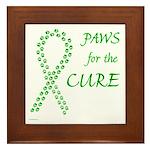Green Paws Cure Framed Tile