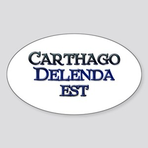 Carthago Delenda Est! Oval Sticker