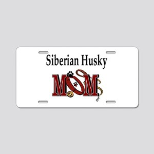 Siberian Husky Mom Aluminum License Plate