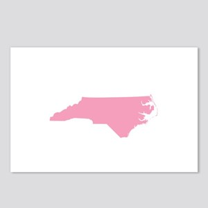 North Carolina - Pink Postcards (Package of 8)
