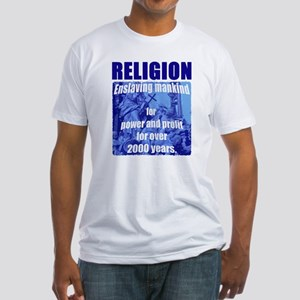 Religion Power & Profit Fitted T-Shirt