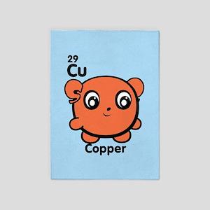Cute Element Cadmium Cd 5'x7'Area Rug