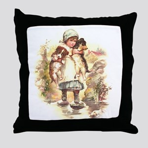Two Pups Throw Pillow