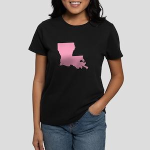 Louisiana - Pink Women's Dark T-Shirt