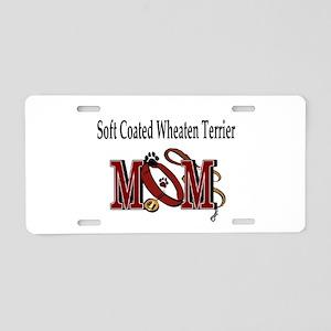 Wheaten Terrier Mom Aluminum License Plate