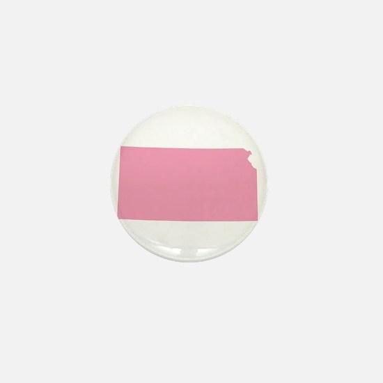 Kansas - Pink Mini Button