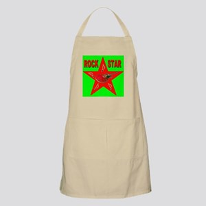 Rock Star in Neon Green BBQ Apron