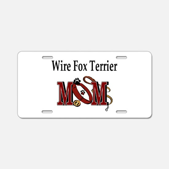 Wire Fox Terrier Aluminum License Plate