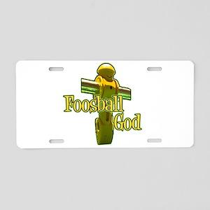 Foosball God Aluminum License Plate