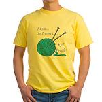 I knit Yellow T-Shirt